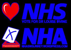 Window Sticker A4LS - Love NHS Vote NHA - Home Print