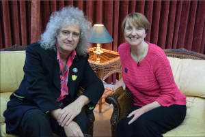 Dr Brian May with Dr Louise Irvine