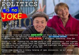 Politics is no joke-red lion