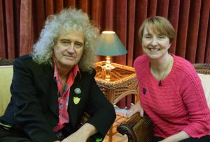Brian and Louise at his home