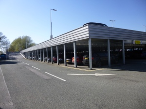 Farnborough Station Car Park - view from car park entrance