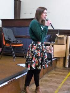 Inspiring speech by Dr Sarah Hallett