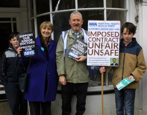 Campaigning in the streets of Farnham