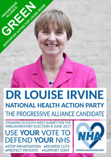 Elect Louise self-print poster (with Green Party flash)