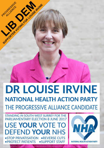 Elect Louise self-print poster (with Lib Dem Party flash)